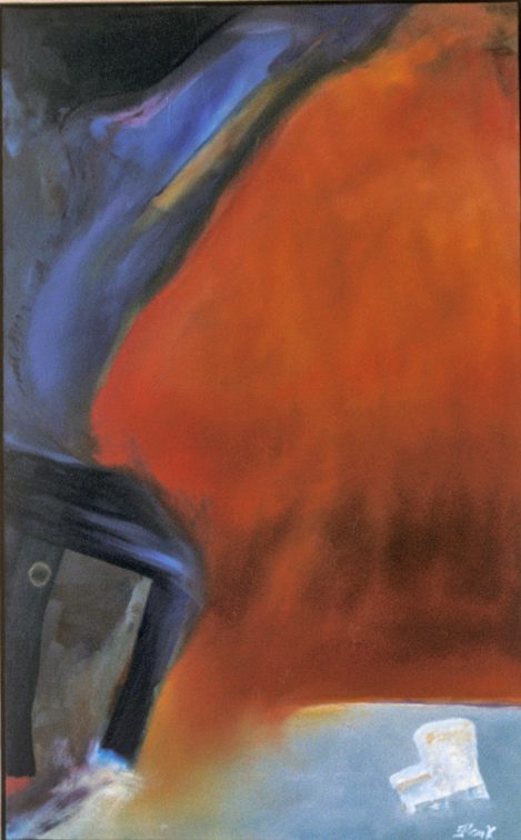 Television Series1 (Attributed to Gene Flank - oil on canvas, 3x5ft